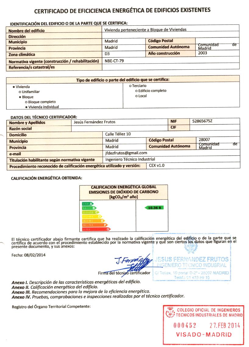 certificado de eficiencia energ tica fernandez de diego